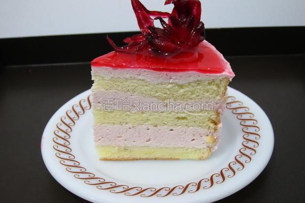 洛神花慕斯蛋糕的做法