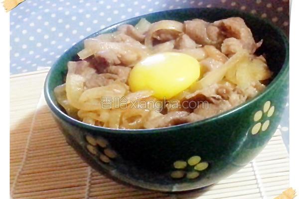 日式洋葱豚丼的做法