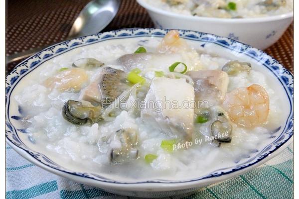 虱目鱼肚海鲜粥的做法