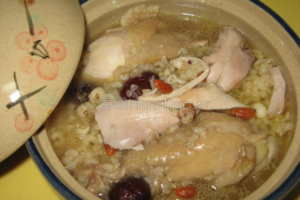 糙米鸡汤的做法