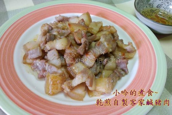 蒜苗炒咸猪肉片的做法