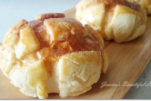 脆皮波萝面包的做法