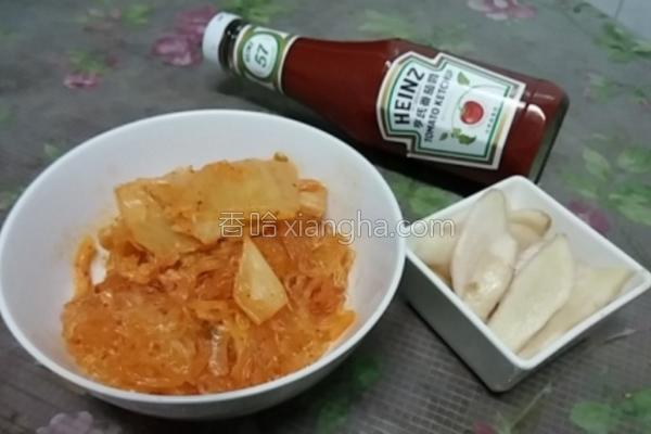 茄汁泡菜粉丝煲的做法