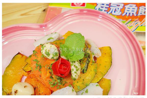 时蔬轻烤拌鱼饺的做法