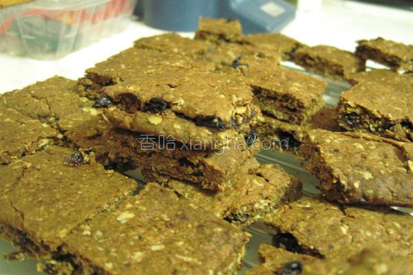 黑糖葡萄燕麦饼的做法