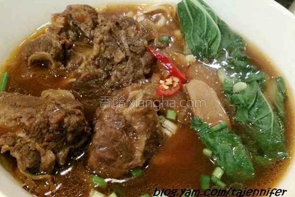 台式红烧牛肉面的做法