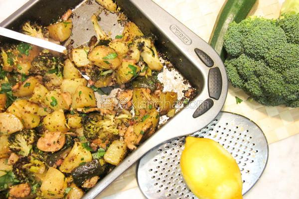 芥末籽烤蔬菜的做法
