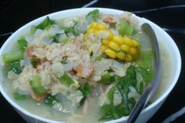 蔬菜鸡肉燕麦粥的做法