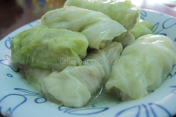 虾仁高丽菜卷的做法