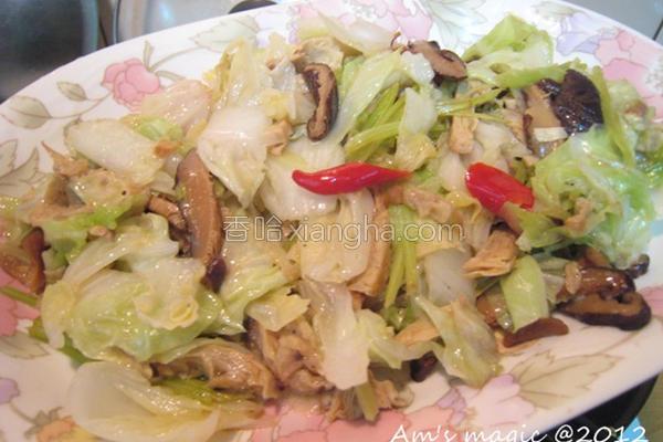 白菜炒杂烩的做法