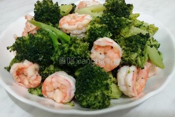 绿花椰炒虾仁的做法