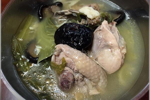 长年菜鸡汤的做法