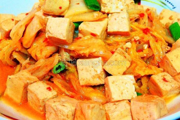 泡四季豆腐的做法