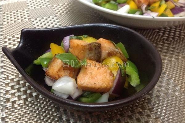 鲑鱼双椒轻食的做法