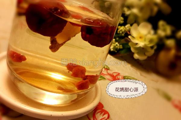 黄耆红枣枸杞茶的做法