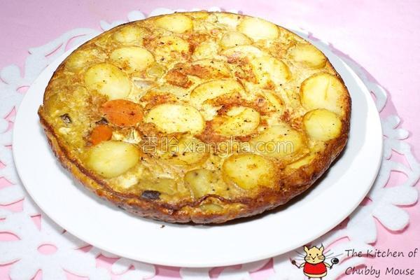 咖哩马铃薯蛋饼的做法