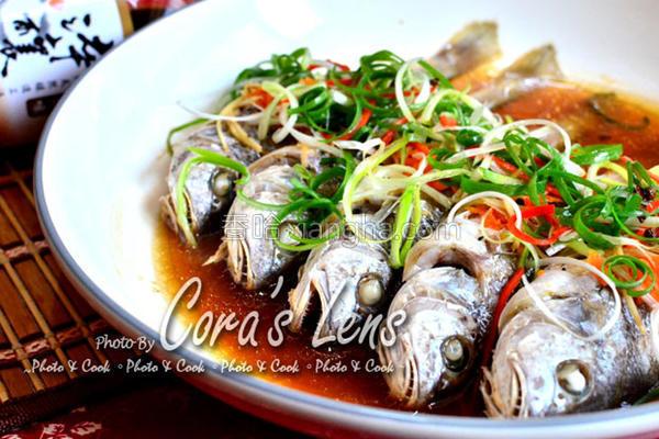 花椒油葱鱼的做法
