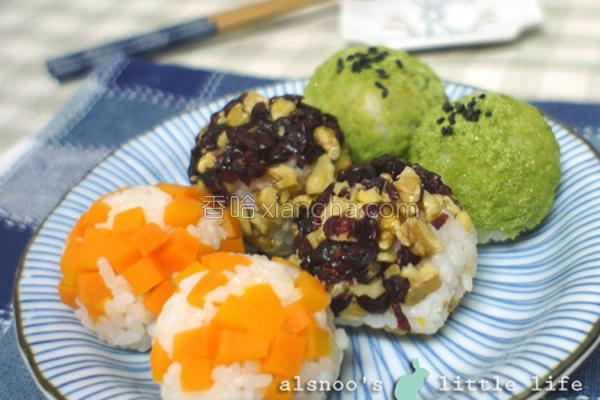 机米地瓜甜心饭丸的做法