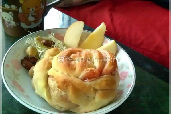 果酱螺旋面包〞的做法