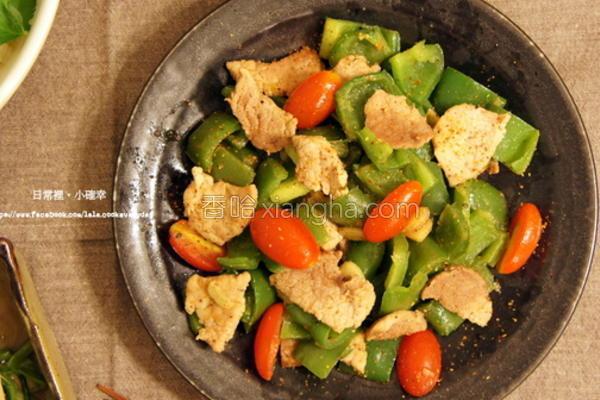辣味青椒炒肉的做法
