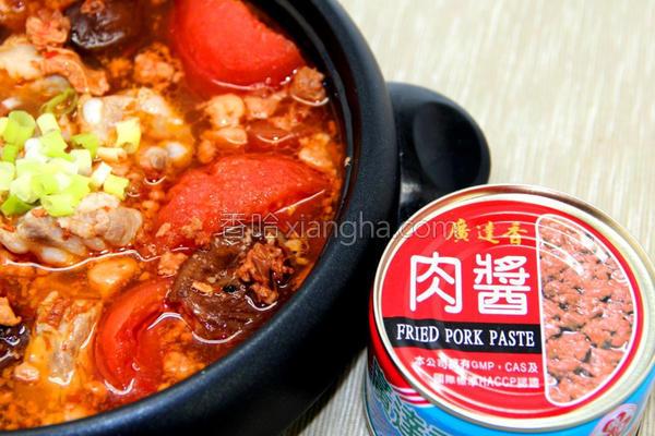 番茄肉酱排骨汤的做法