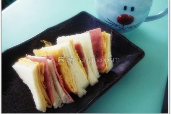 火腿起司三明治的做法