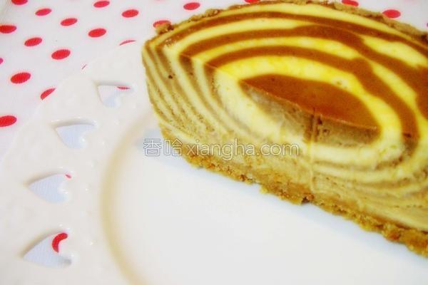 螺旋斑纹起司蛋糕的做法