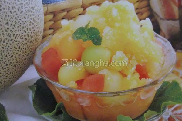 新鲜水果冰的做法