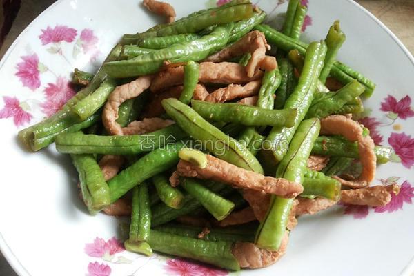 长豆炒肉丝的做法