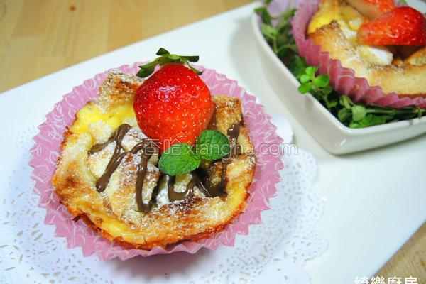草莓吐司布丁的做法