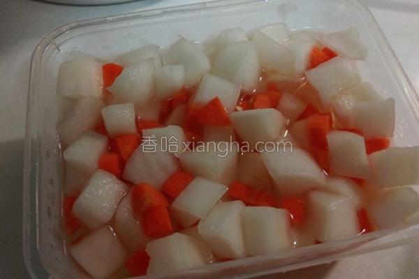 台式白萝卜泡菜的做法