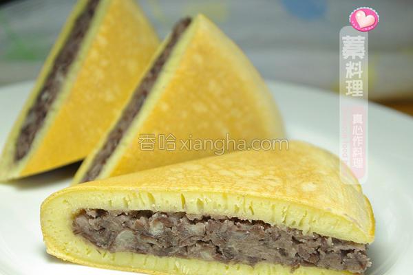 红豆面粉煎饼的做法