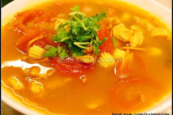 金虫草番茄蛋花汤的做法