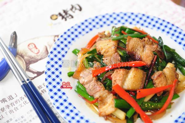 咸猪肉炒韭菜的做法