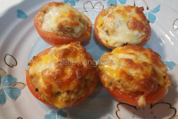 焗烤鲔鱼番茄的做法