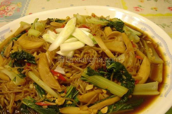 蔬菜辣炒魔芋面的做法