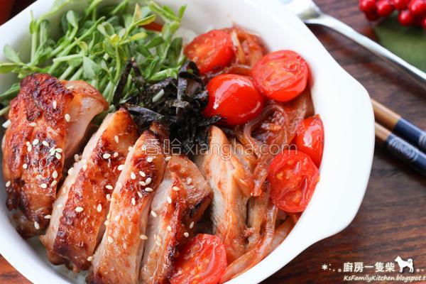 番茄柚香鸡腿盖饭的做法