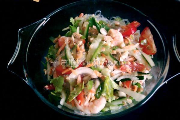 鲜虾冬粉沙拉的做法