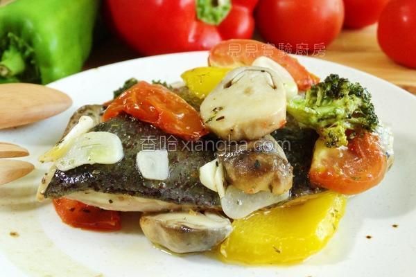 时蔬蒸烤鱼的做法
