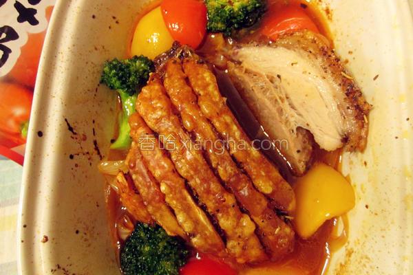 脆烤猪五花的做法