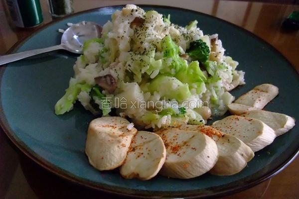 鲜菇椰奶炖饭的做法