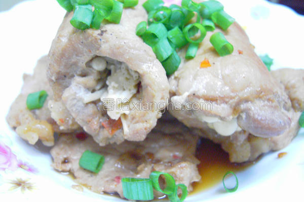 肉卷金针菇的做法