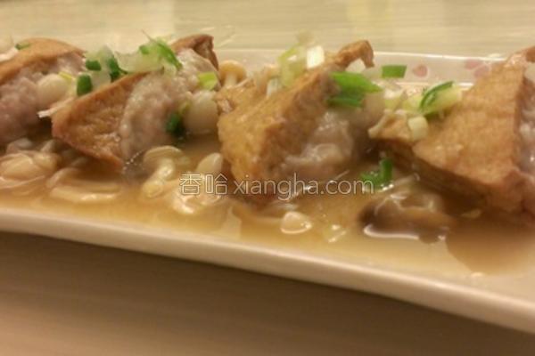豆腐菇菇酿肉的做法