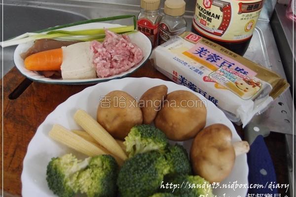 芙蓉豆腐酿香菇的做法