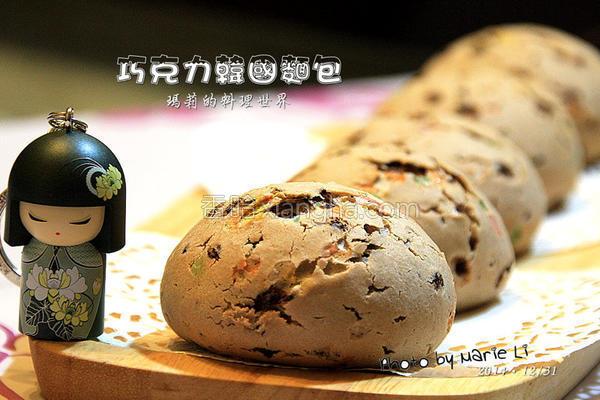 巧克力韩国面包的做法