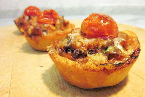 香肠蘑菇咸塔的做法