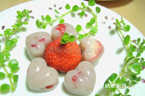 草莓炼奶QQ冻的做法