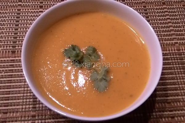 红萝卜香菜浓汤的做法