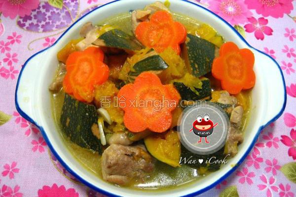 南瓜炖鸡的做法