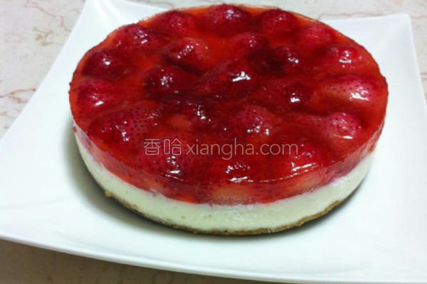 草莓冻起司蛋糕的做法